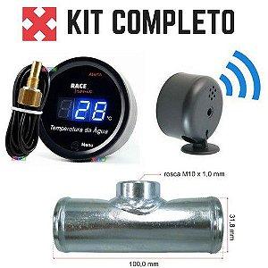 14335659b31 Relógio Marcador de Temperatura Automotivo Digital Azul - Conexão ...