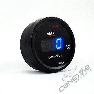 Contagiros RPM Digital Display Com Led Azul Racetronix