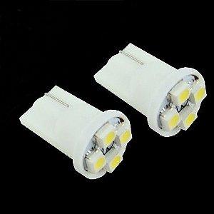Par De Lâmpadas 4 LEDs Pingo Para Carro e Moto efeito Xênon