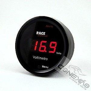 Voltímetro Digital Display Com Led Vermelho 52mm Racetronix