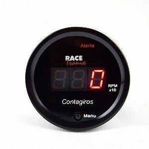 Contagiros RPM Digital Display Com Led Vermelho Racetronix