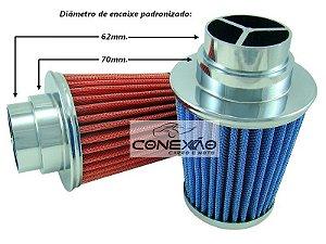 Filtro Ar Esportivo Duplo Fluxo pequeno Carros 1.0 1.3 1.4 1.5 1.6cc