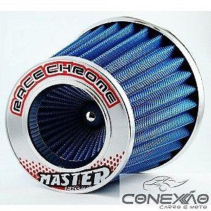 Filtro De Ar Esportivo Em Alumínio Extra Grande Race Chrome