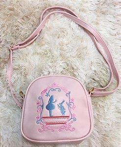 Bolsa Alice no país das Maravilhas Rosa