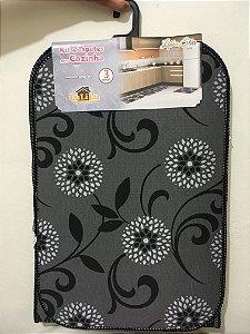 Kit Tapetes de Cozinha 3 peças cinza