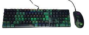 Kit gamer redragon Hunter S108 Tec mecanico + Mouse RGB S108