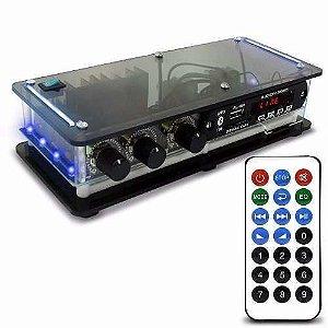 Amplificador Som Ambiente 40w Estereo Receiver Bluetoot