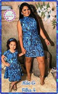 d6e768114a386c Body Mãe M/G + Vestido Filha 6 a 8 anos - R$ 80,00