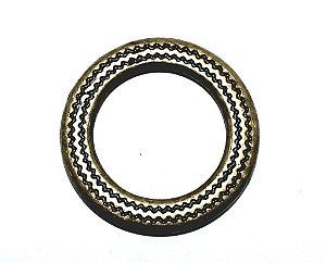 Argola Estampada - 23,5mm - Ouro Velho  - ref.: 76