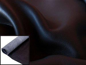 Rolos de Vaqueta Semicromo Natural - Cor: Preto - 1.2/1.8 mm