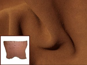 Camurça Bovina  - Cor: Caramelo - 1.2 mm