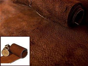 Rolos de Nobuck de Porco tipo Javali - Cor: Castor - 1.4/1.8 mm