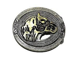 Fivela 43b Cavalo Crioulo - Ouro Velho - 40 mm