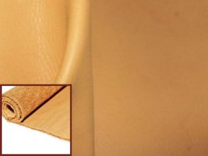 Rolos de Vaqueta Semicromo Natural - Cor: Amarelo Claro - 1.2/1.8 mm