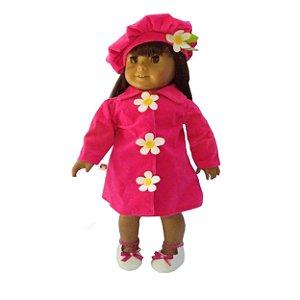 Roupa para Boneca - Kit Conjunto Sobretudo - Veste Bonecas tipo American Girl e Our Generation - Cantinho da Boneca
