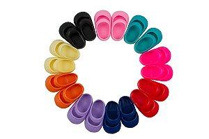 Sapato para Boneca - Modelo Sapatilha 7cm - Calça Bonecas tipo Adora Doll - Laço de Fita