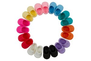 Sapato para Boneca - Modelo Tênis 8cm - Calça Bonecas tipo Adora Doll - Laço de Fita