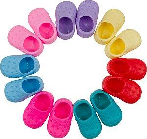 Sapato para Boneca - Modelo Sport 7,5cm - Calça Bonecas tipo Adora Doll - Laço de Fita