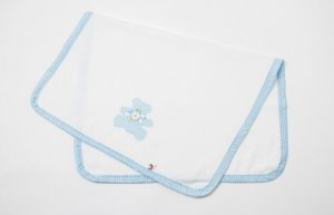 Cobertor para Boneca Xadrez Azul - Cantinho da Boneca