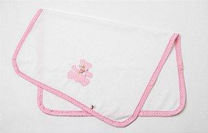 Cobertor para Boneca Bolinha Rosa - Cantinho da Boneca