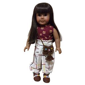 Roupa para Boneca - Kit Conjunto Hippie - Veste Bonecas tipo American Girl e Our Generation - Cantinho da Boneca