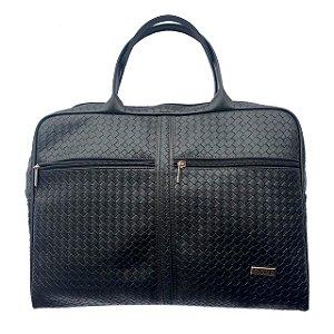 Bolsa estilo pasta com dois bolsos externos Preto EX1033
