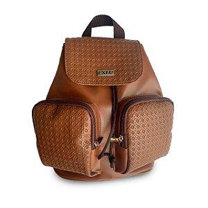 Mochila Feminina Caramelo com dois bolsos externos EX1055