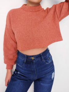 Cropped Tricot Mousse