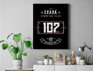Quadro Decorativo Inteligente Revestido em Tecido Ceará 107 anos