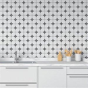 Papel de Parede Adesivo Abstrato Preto e Branco - Sequence
