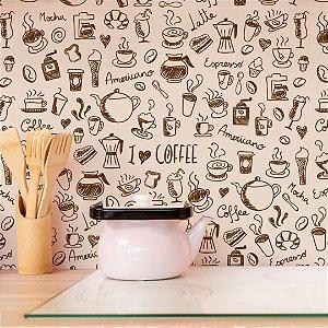 Papel de Parede Adesivo Cantinho do Café - I Love Coffee
