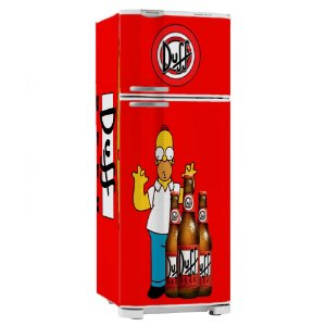 Adesivo Envelopamento Geladeira Duff Beer Simpsons