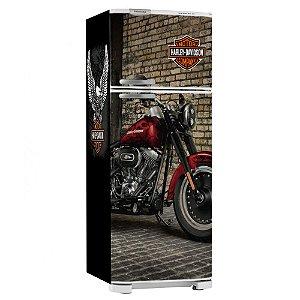 Adesivo Envelopamento Geladeira Harley Davidson