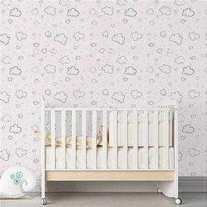 Papel de Parede Adesivo Nuvens Quarto Infantil