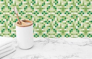 Papel de Parede Adesivo Revestimento Pastilha Verde