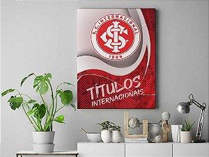 Quadro Decorativo em Tecido Canva Inteligente Internacional
