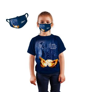 KIT Camisa e Máscara Infantil da Festa do Senhor dos Passos