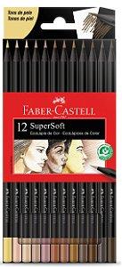 Lápis de Cor SuperSoft 12 Cores Tons de Pele Faber Castell