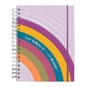 Caderno Smart Arco Iris Universitário A4 Reposicionável 10 Matérias Dac