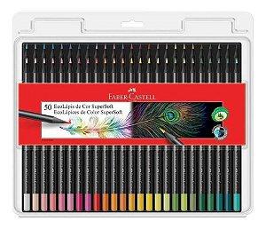 Lápis De Cor Super Soft 50 Cores - Faber Castell