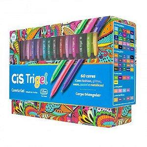 Caneta Em Gel Cis Trigel - 60 Cores