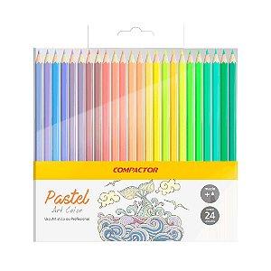 Lápis De Cor Compactor Tons Pastel - 24 Cores