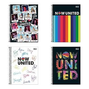 Caderno Universitário 10 Matérias 160 Folhas Now United Tilibra
