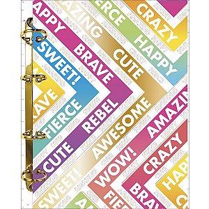 Caderno Argolado Fichário Colegial Cartonado Be Nice Tilibra