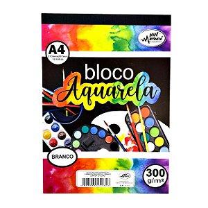 Bloco Aquarela Merci A4 300gr - 12 Folhas