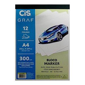 Bloco Cis Graf Marker 300gr A4 12 Folhas