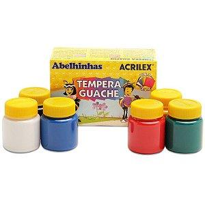 Tinta Tempera Guache Acrilex - 6 Cores