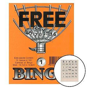 Cartela para Bingo de 75 Bolinhas (15 Blocos - 100 Cartelas Cada)