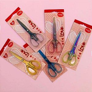 Tesoura Escolar Love 16cm Molin