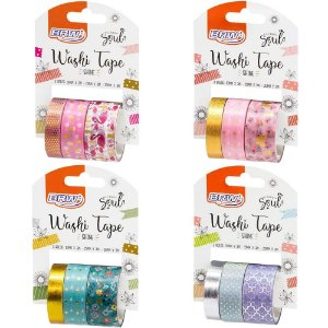 Fita Adesiva Washi Tape Shine c/ 3 Rolos Brw